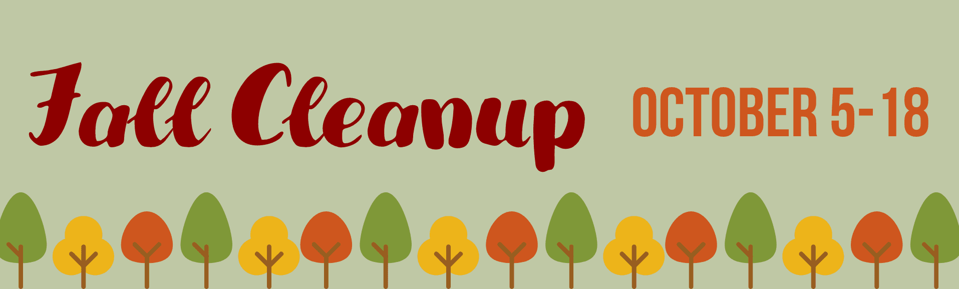 Fall Clean Up from October 5-18