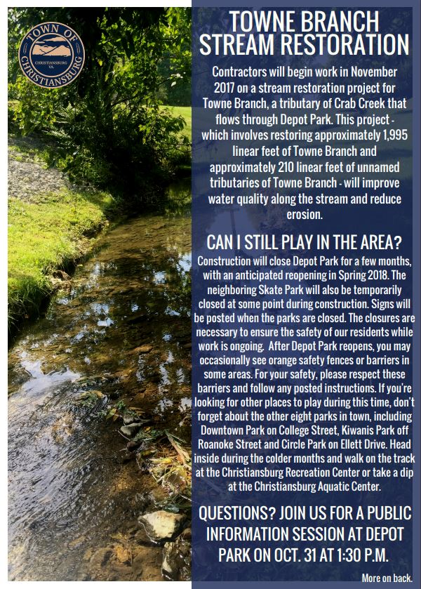 Town Branch Stream Restoration Flyer