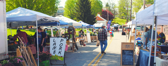 Farmers&#39 Market on Hickok Street in Downtown Christiansburg.