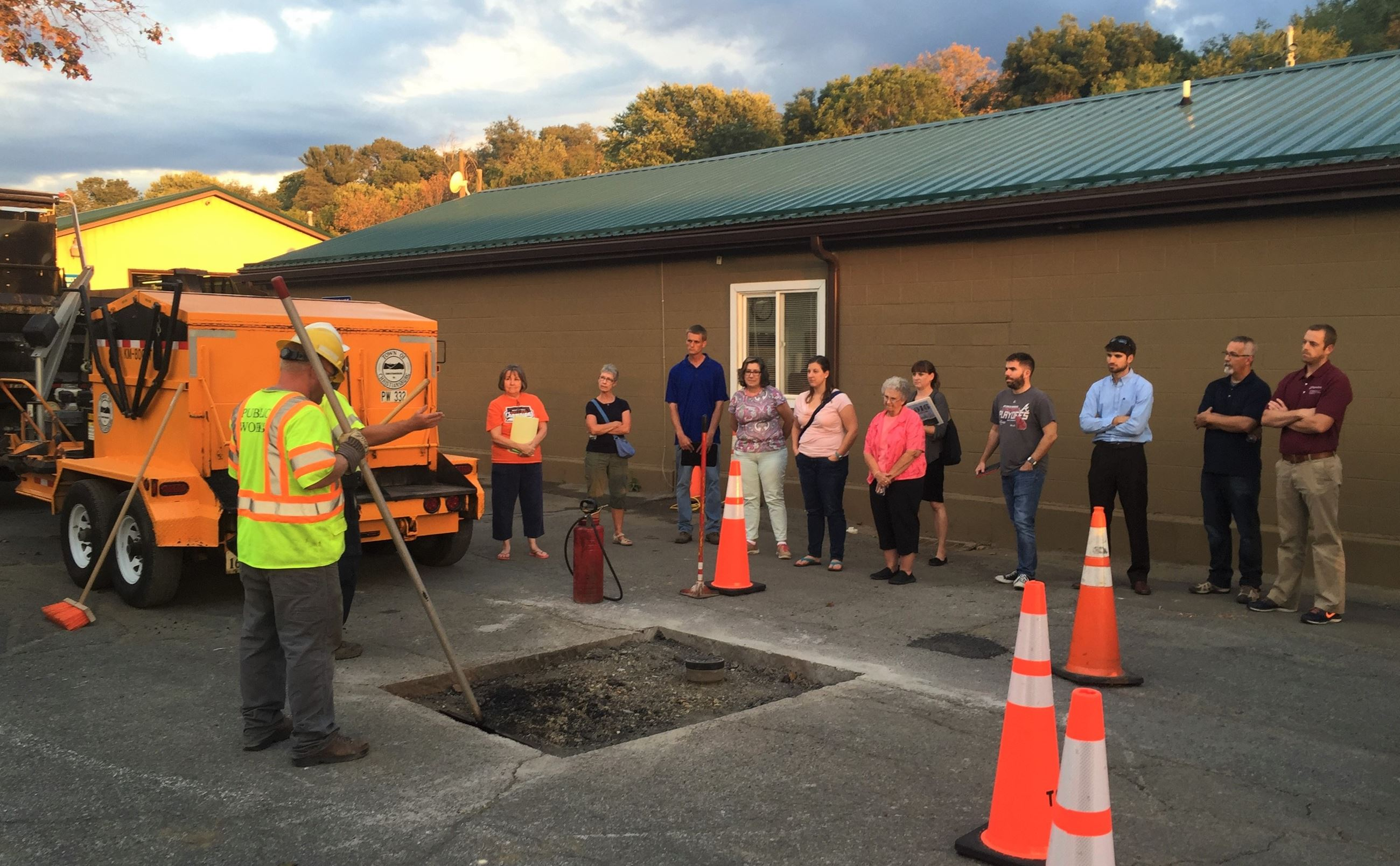 Participants in the 2016 Citizens Academy learn more about public works operations in Christiansburg