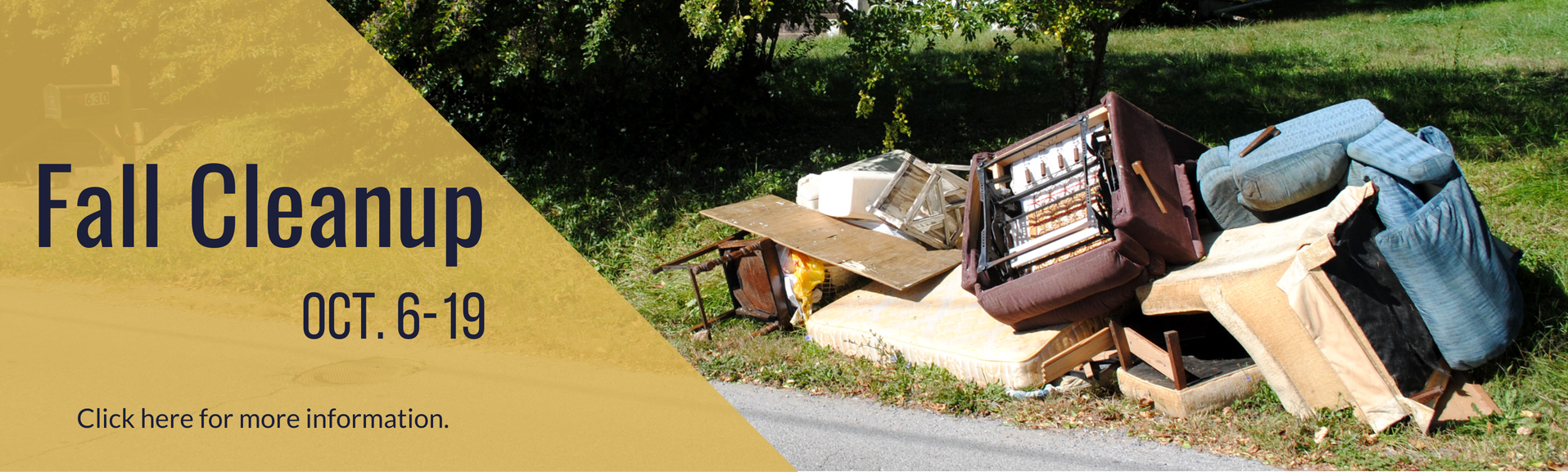 Click here for more information about Fall Cleanup.