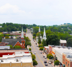 A view of Downtown Christiansburg.