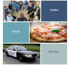 Teens Police Pizza