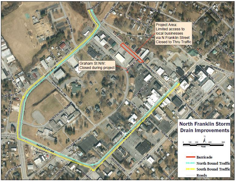 N. Franklin Storm Drain Project Map