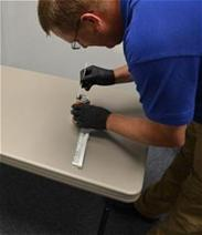 Forensic examiner with swab